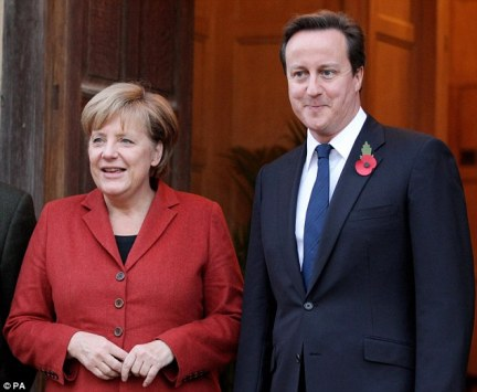Powerful allies: Since becoming Chancellor in 2005, The 'Iron Frau', seen here with David Cameron in October last year, has consolidated her hold on power in both her party and Germany