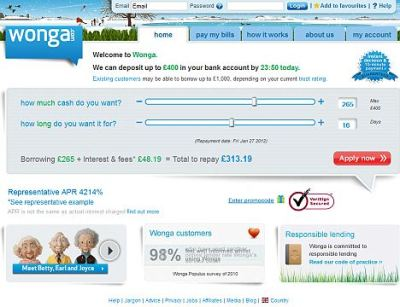 'Loan shark' firm Wonga targets students: 4,000% interest offered   Daily Mail Online
