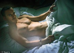 The naked truth: Michael Fassbender appears shirtless in the new issue ...