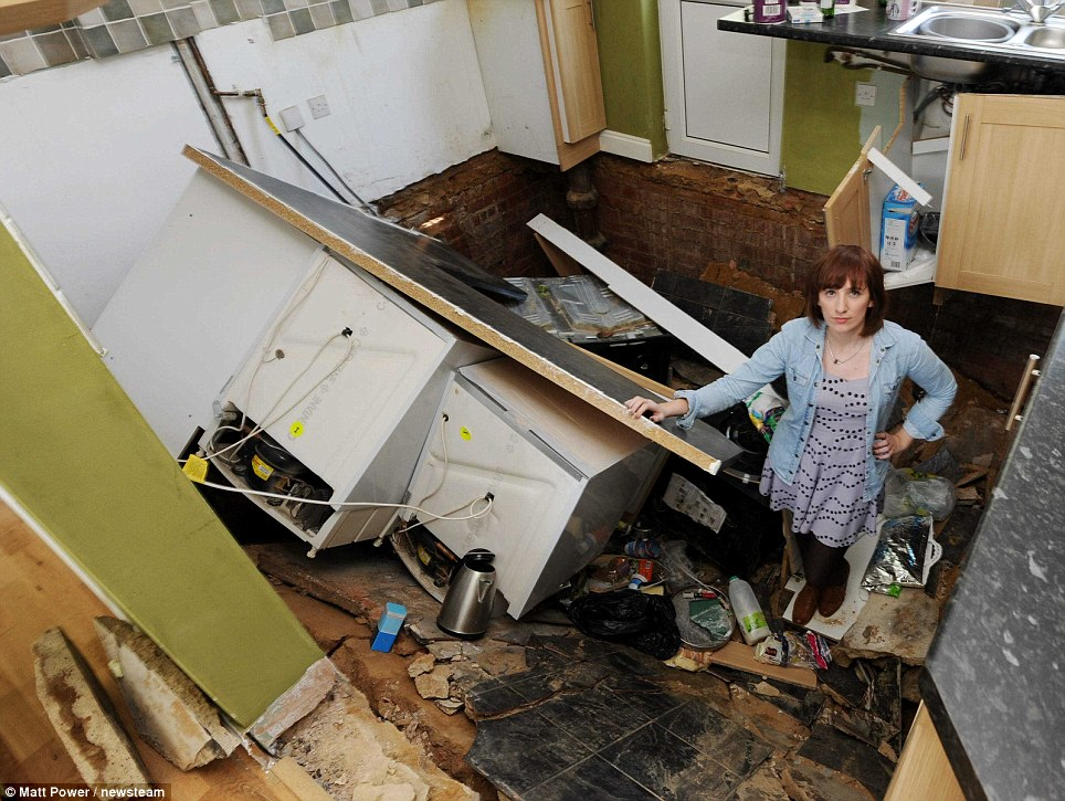 Young Couple Devastated After Moving Into Their Dream Home Only For Kitchen To Collapse 24