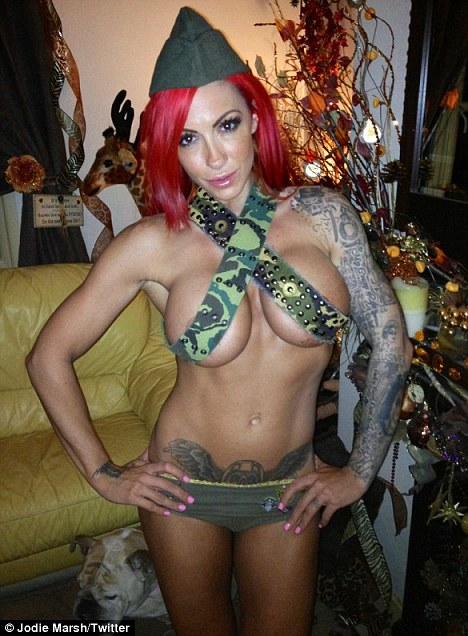 2 Year Old Girls Happy Birthday Wallpaper Jodie Marsh Puts On Her Infamous Army Belts Top Daily