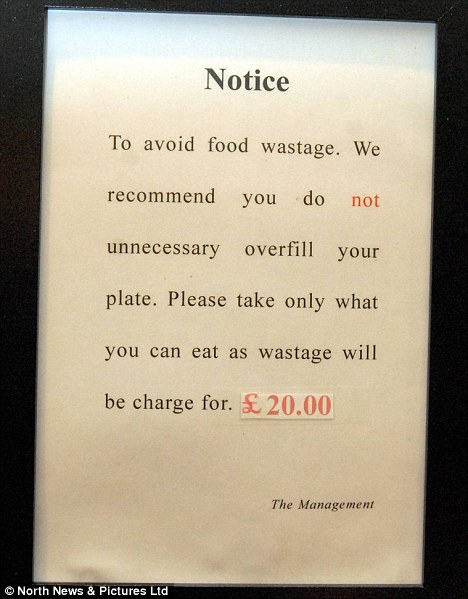 Restaurant \u0027fines\u0027 diners at Chinese buffet for leaving food on