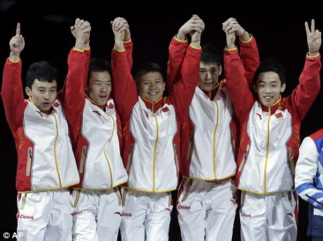 All gold: Chinese gymnasts