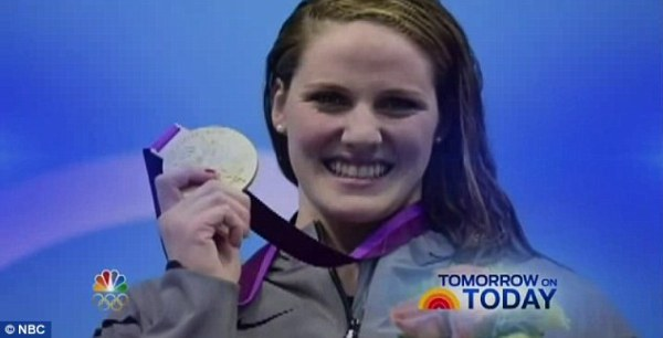 Spoiler: Before airing Missy Franklin's gold medal-winning performance, NBC aired a promo for the Today show that showed her with the medal