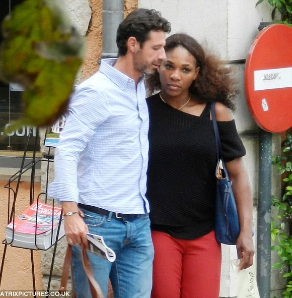 Close: The U.S. tennis star and her coach appeared inseparable as they walked through the streets
