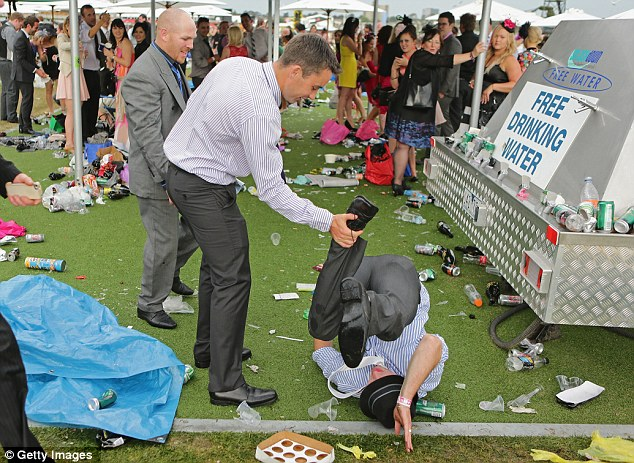 Melbourne Cup 2012 Shocking Video Of Drunk Woman Punching
