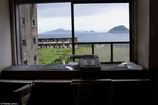 Derelict: A one-time holiday camp in Japan's Izu peninsula lies in ruins some four decades after it was abandoned