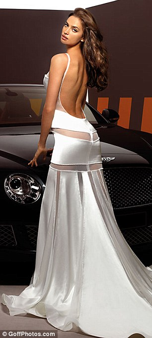 Sizzling in wedding couture: Irina modeled a range of gowns, some a little more revealing then others