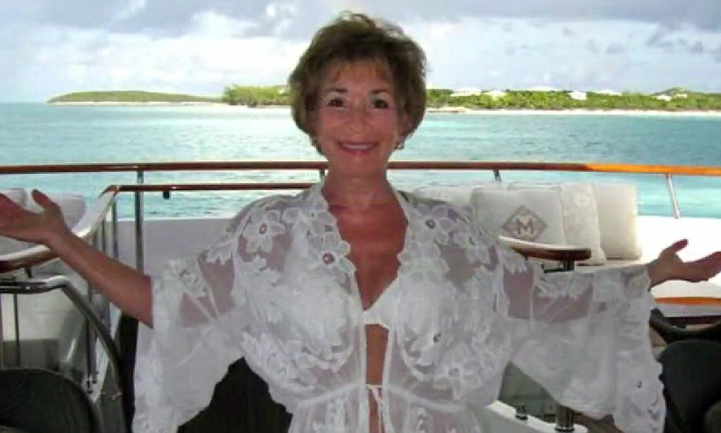 Judge Judy Wows In White Halterneck Bikini As She
