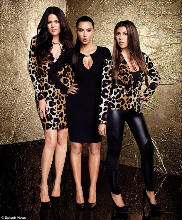 Leopard print everything: The Kardashian sisters in their own designs for their latest range at Dorothy Perkins