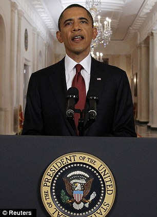 Long-awaited news: U.S. President Barack Obama is pictured after announcing live on television the death of Osama bin Laden from the East Room of the White House in Washington May 1, 2011