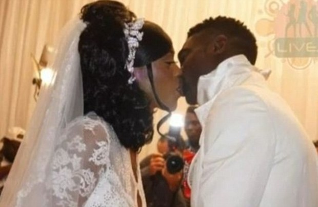 Wedding day: Model Kessel Kasuisyo claims she was dating Toure at the time of his wedding, to the mother of his two children Awo