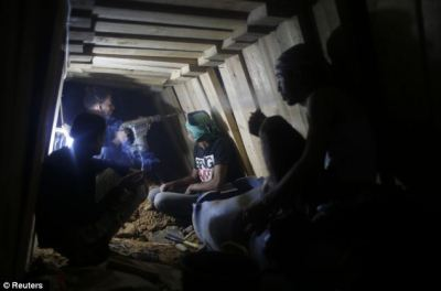 Just days after ceasefire and Palestinians are already rebuilding bombed network of secret ...