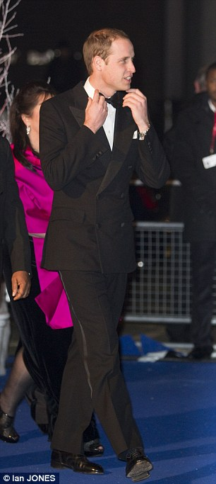 The Duke of Cambridge attends the Winter Whites Gala in aid of Centrepoint at the Royal Albert Hall in London