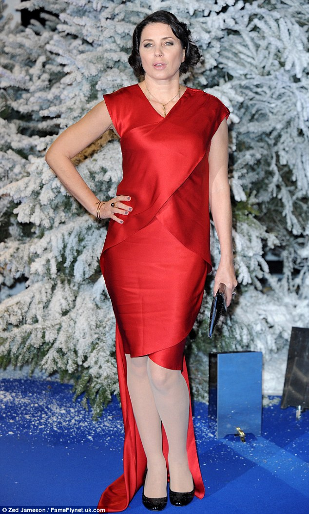 Sadie Frost arrives at the charity event at the Royal Albert Hall against the winter wonderland backdrop