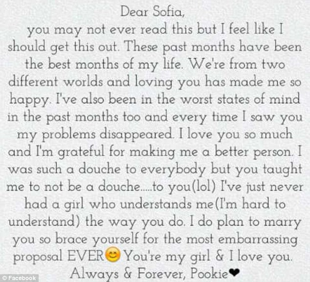 Damell Mickens The touching love letter a teen wrote to his - Apology Love Letter