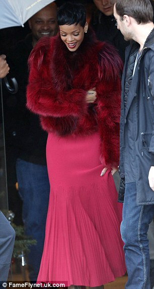Just ten days ago... Chris was seen leaving Rihanna's hotel on December 10 in Paris, while she was seen wearing the same jacket in Brown's Twitter snap as she emerged from a recording studio