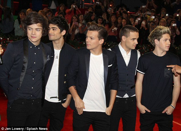 Cute and co-ordinated: One Direction, who performed during the show, were in matching outfits for the occasion