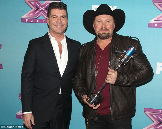 Losing out: Cowell did not believe that Tate Stevens had what it takes to become the eventual X Factor USA winner