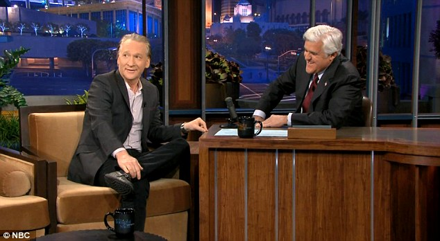 On Monday evening Bill Maher (left) joked on the 'Tonight Show' that he would pay $5 million to charity if Donald Trump released his birth certificate