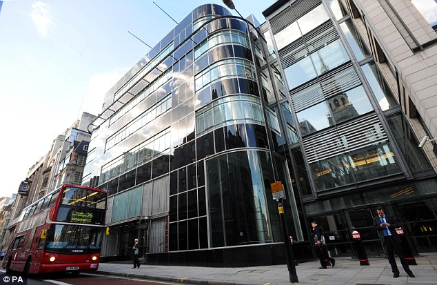 'Prosperity for all': The American bank (London offices pictured) employs 5,500 staff in the UK and will be the first to unveil its massive rewards