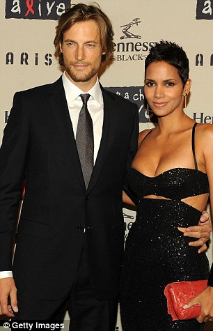 Clean living: In equally good shape are fellow male supermodels, Andrés Velencoso (pictured with girlfriend, Kylie Minogue) and Gabriel Aubry (seen here with ex, Halle Berry)