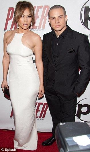 New love: Casper Smart joined his girlfriend on the red carpet in Sin City