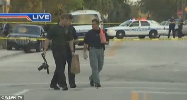 Investigation: Police officers at the scene