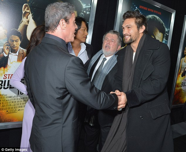 Jason Momoa Play Fights With Sylvester Stallone Before