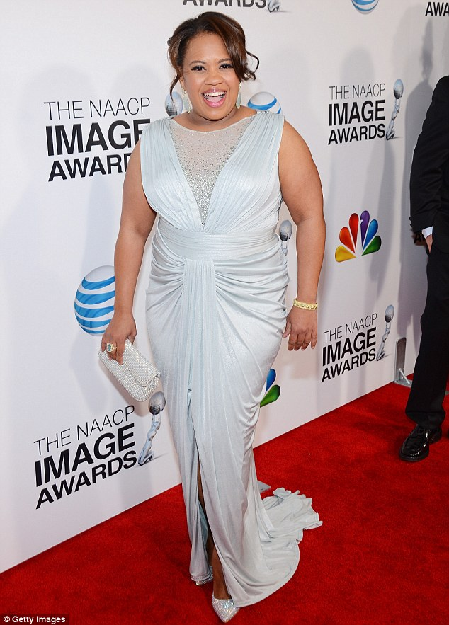 This old thing: Grey's Anatomy's Chandra Wilson stunned in white