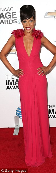 Carpet beauties: Keke Palmer, Garcelle Beauvais and Wendy Raquel Robinsonall went for gorgeous long gowns for the event