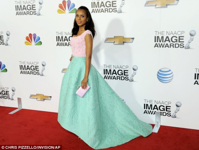 Red carpet winner: Kerry Washington stunned as she arrived at the 44th Annual NAACP Image Awards at the Shrine Auditorium in Los Angeles, California, on Friday