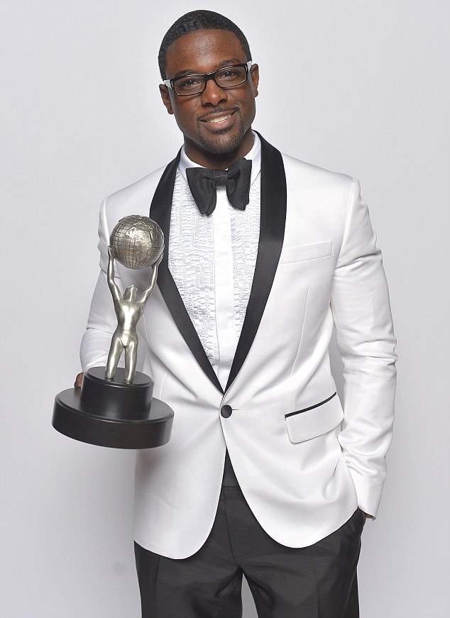 Laugh out loud: Lance Gross won Outstanding Supporting Actor in a Comedy Series for his role in Tyler Perry's House of Payne