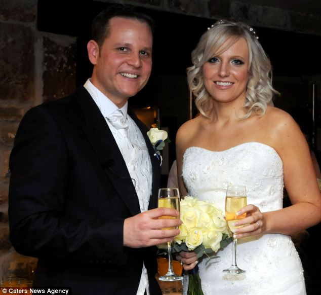 Stephanie Parr, with husband Neil, had feared she wouldn't live to see her wedding day after doctors discovered she had a brain tumour the size of a tennis ball