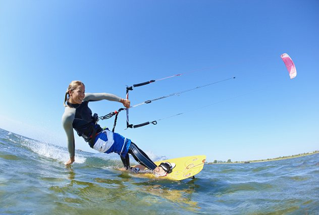 Girl Playing In Water Wallpaper Luxury Travel Learning To Kitesurf On Magical Mauritius