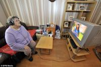 Pensioner Annie Hancock, 74, forced to wear headphones ...