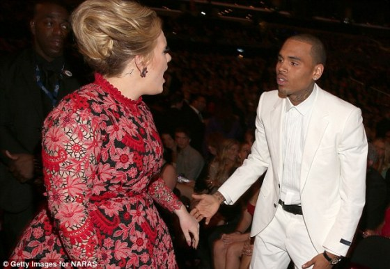 Adele scolds Chris Brown