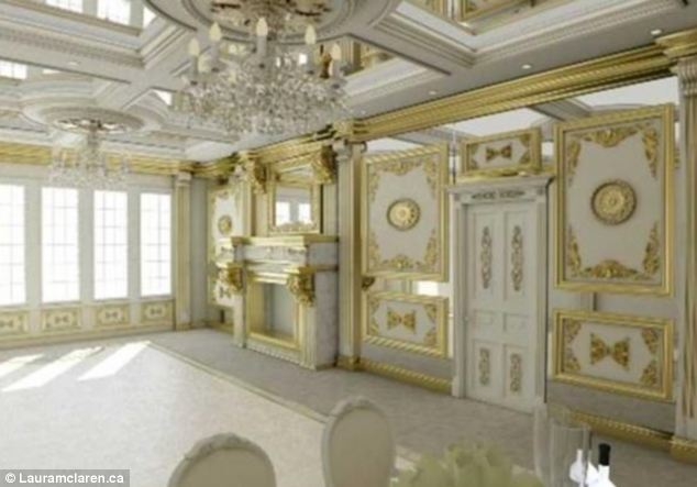 White And Gold Mansion
