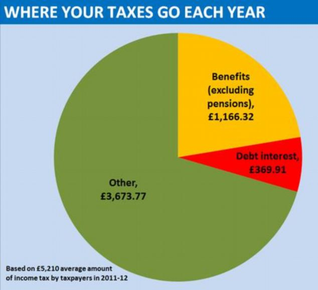 More than 20 of everyone\u0027s income tax bill goes straight to