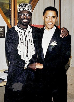Brotherly love: The young Barack was the best man at the first of his older brother Malik's 12 weddings and the two maintain a close relationship