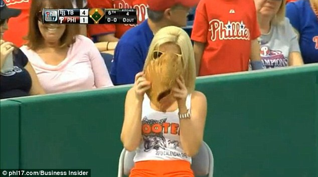 Oops Hooters Ballgirl Picks Up Live Baseball And Tosses