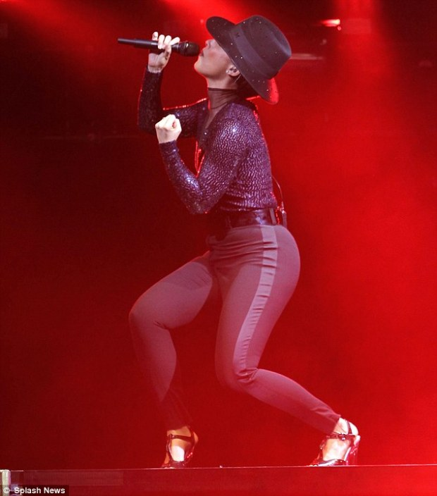 Giving her all: The star completes her tour in Tel Aviv, Israel, in July