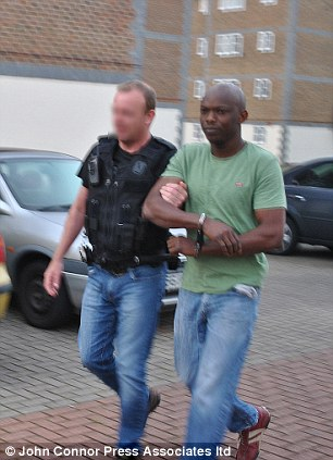 Jailed: Odosa Usiobaifo, 35, was found guilty of conspiring to traffick young girls for the purposes of sexual exploitation
