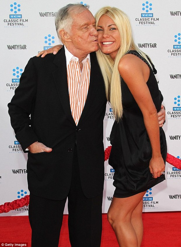 Reformed: Hugh has now said he wants to remain with third wife Crystal Harris until he dies