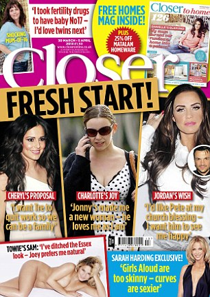 The full interview with Sam appears in this week's Closer magazine