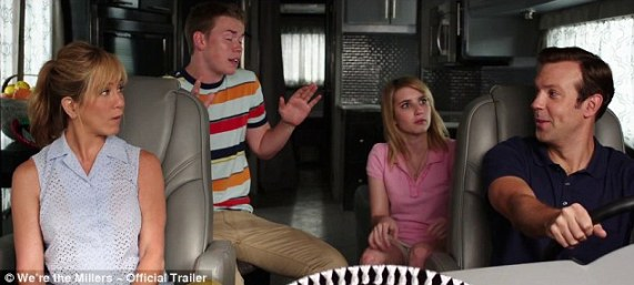 Straining his vocal chords: The trailer ends with Will singing to a song on the radio as the 'family' looks amused