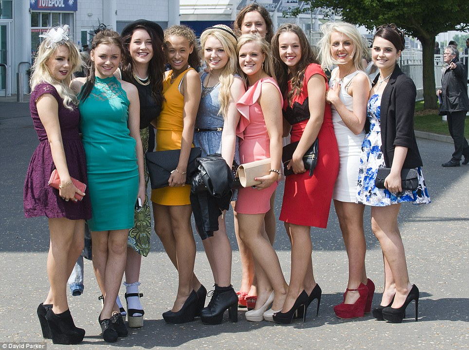 Epsom Ladies Day Racegoers Pull Out The Stops In Bright