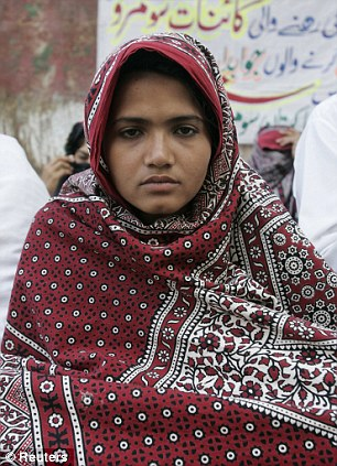 Justice: Gang-rape victim Kainat Soomro was labelled a 'black virgin' and shunned by her rural village after she accused her alleged attackers