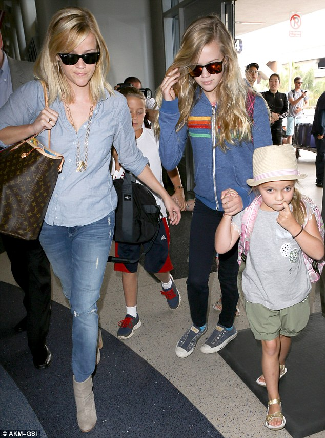 reese witherspoon and her lookalike daughter ava 13 are the spitting image of each other as