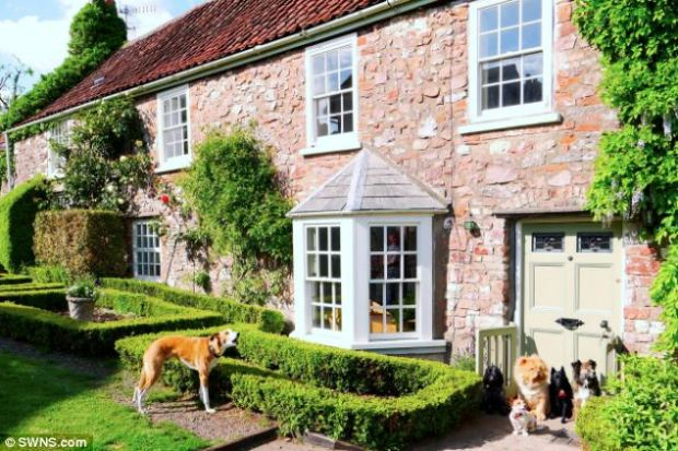 Run of the house: Mariah's dogs will be waited on hand-and-paw at The Paw Seasons, in Long Ashton Bristol